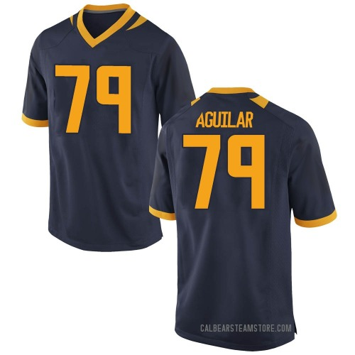Youth Nike Ender Aguilar California Golden Bears Game Gold Navy Football College Jersey