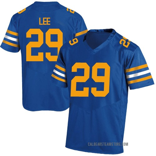 Youth Under Armour Aidan Lee California Golden Bears Game Gold Royal Football College Jersey