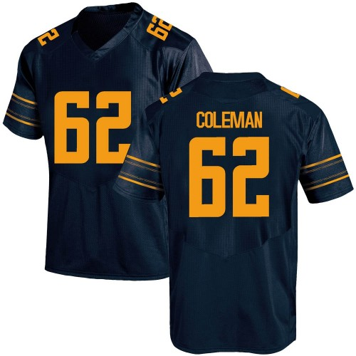 Youth Under Armour Ben Coleman California Golden Bears Game Gold Navy Football College Jersey