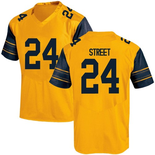 Youth Under Armour Chris Street California Golden Bears Game Gold Alternate Football College Jersey