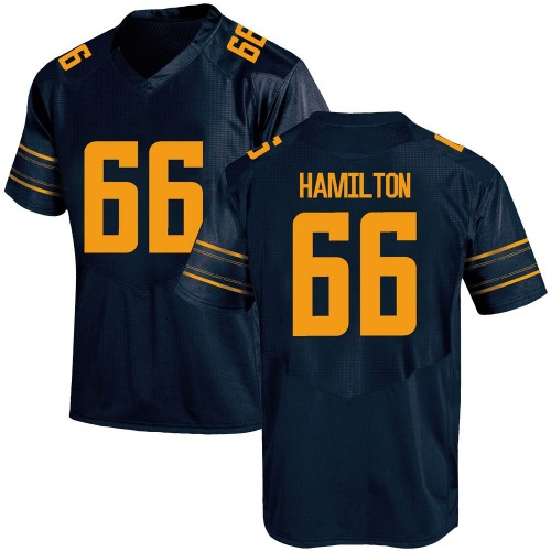 Youth Under Armour Colin Hamilton California Golden Bears Game Gold Navy Football College Jersey