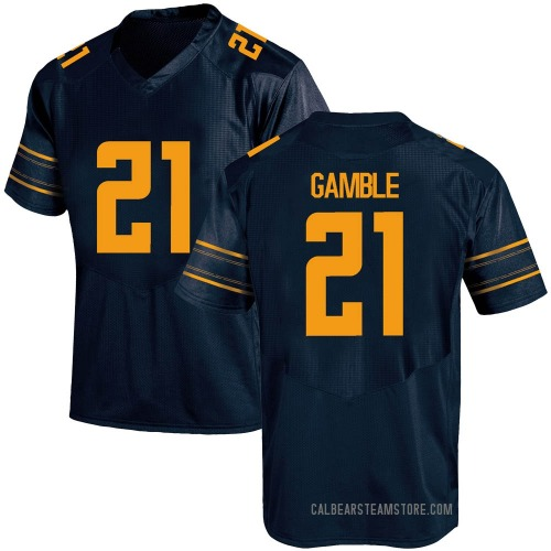 Youth Under Armour Collin Gamble California Golden Bears Game Gold Navy Football College Jersey