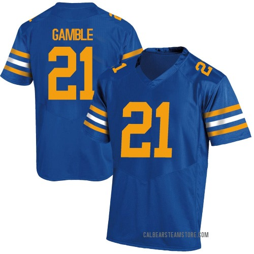 Youth Under Armour Collin Gamble California Golden Bears Game Gold Royal Football College Jersey