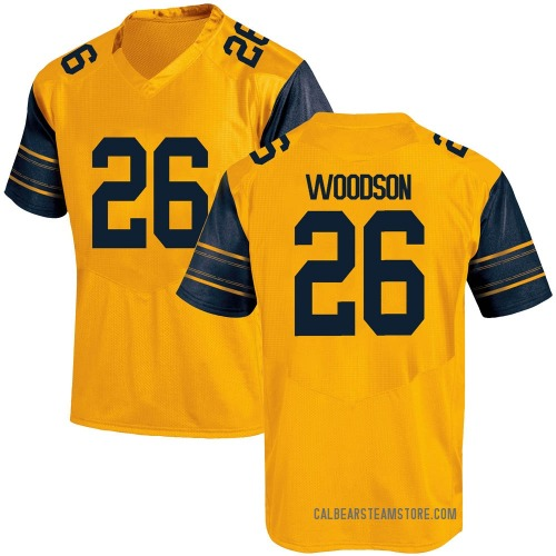 Youth Under Armour Craig Woodson California Golden Bears Game Gold Alternate Football College Jersey