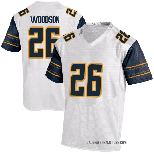 Youth Under Armour Craig Woodson California Golden Bears Game Gold White Football College Jersey