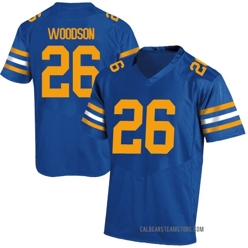 Youth Under Armour Craig Woodson California Golden Bears Replica Gold Royal Football College Jersey