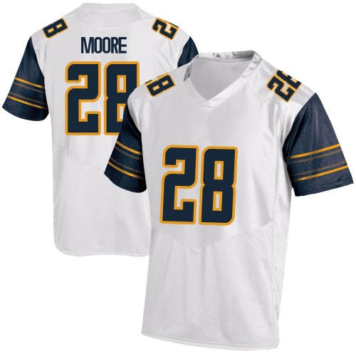 Youth Under Armour Damien Moore California Golden Bears Game Gold White Football College Jersey