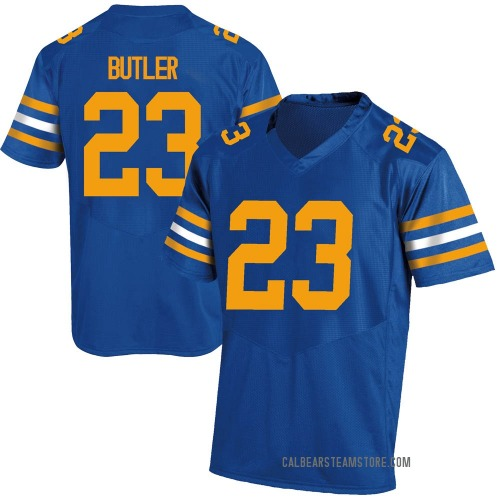 Youth Under Armour Dejuan Butler California Golden Bears Game Gold Royal Football College Jersey