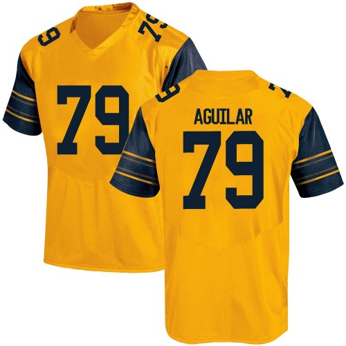 Youth Under Armour Ender Aguilar California Golden Bears Game Gold Alternate Football College Jersey