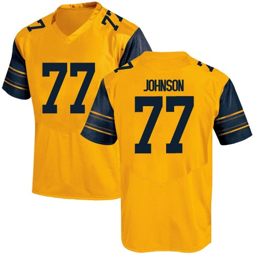 Youth Under Armour Everett Johnson California Golden Bears Game Gold Alternate Football College Jersey
