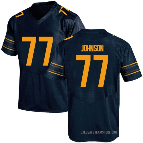Youth Under Armour Everett Johnson California Golden Bears Game Gold Navy Football College Jersey