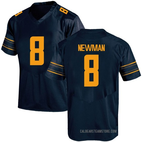 Youth Under Armour Jack Newman California Golden Bears Game Gold Navy Football College Jersey