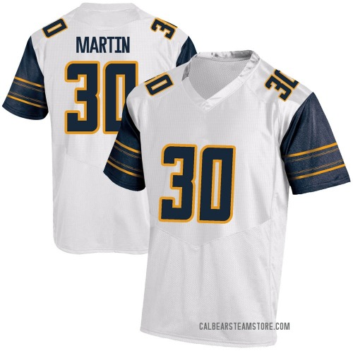 Youth Under Armour Jaylen Martin California Golden Bears Game Gold White Football College Jersey