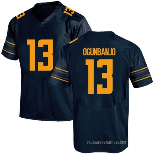 Youth Under Armour Joseph Ogunbanjo California Golden Bears Game Gold Navy Football College Jersey
