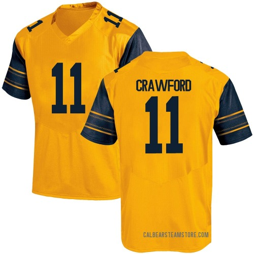 Youth Under Armour Kekoa Crawford California Golden Bears Game Gold Alternate Football College Jersey