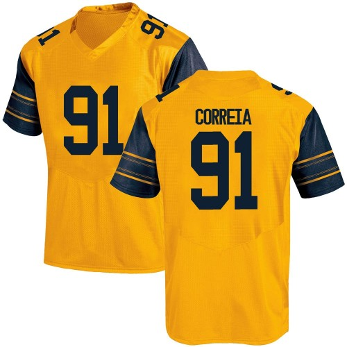 Youth Under Armour Ricky Correia California Golden Bears Game Gold Alternate Football College Jersey