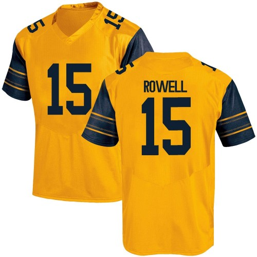 Youth Under Armour Robby Rowell California Golden Bears Game Gold Alternate Football College Jersey