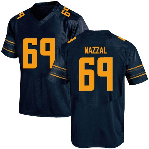 Youth Under Armour Sami Nazzal California Golden Bears Game Gold Navy Football College Jersey