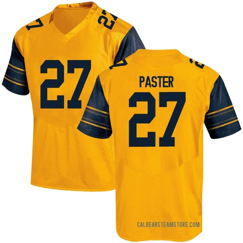 Youth Under Armour Trey Paster California Golden Bears Game Gold Alternate Football College Jersey