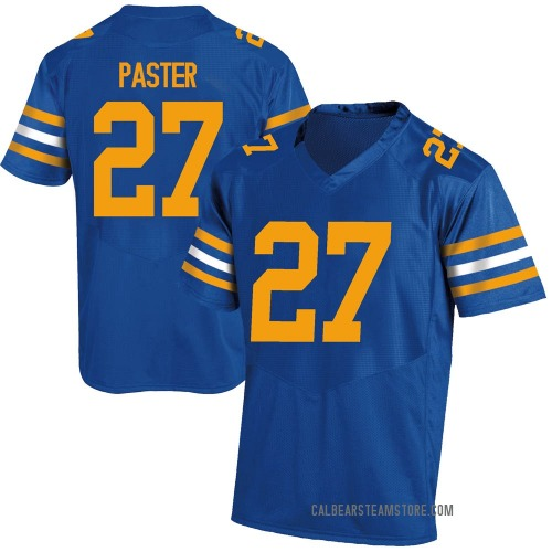 Youth Under Armour Trey Paster California Golden Bears Replica Gold Royal Football College Jersey