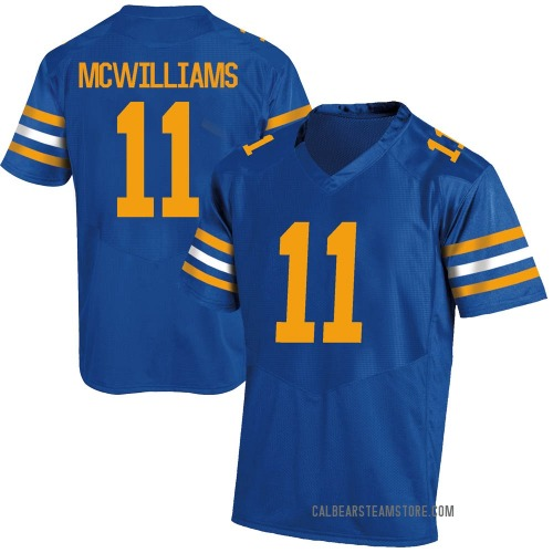 Youth Under Armour Tyson Mcwilliams California Golden Bears Replica Gold Royal Football College Jersey