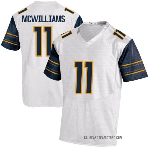 Youth Under Armour Tyson Mcwilliams California Golden Bears Replica Gold White Football College Jersey