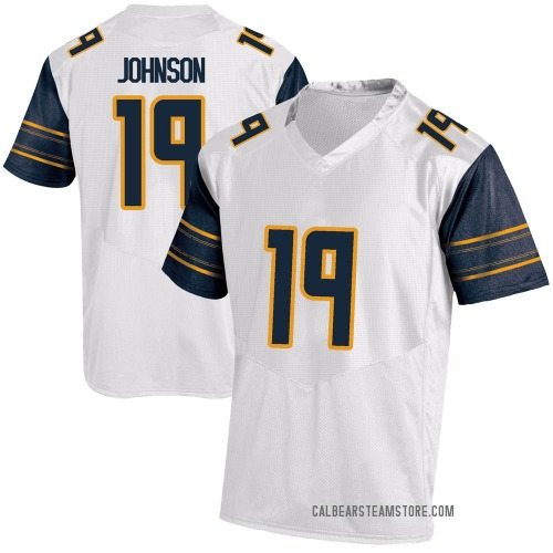 Youth Under Armour Zach Johnson California Golden Bears Replica Gold White Football College Jersey