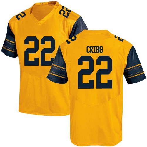 Youth Under Armour Zane Cribb California Golden Bears Game Gold Alternate Football College Jersey