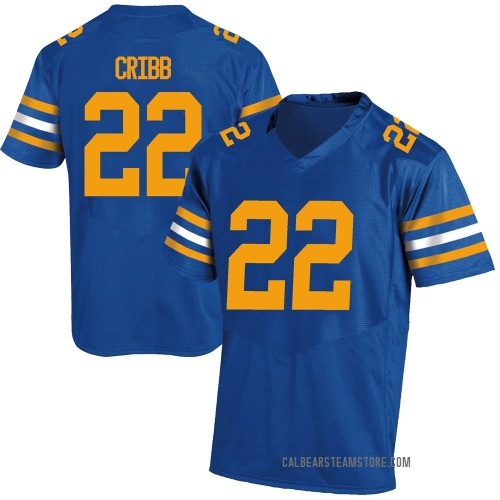 Youth Under Armour Zane Cribb California Golden Bears Game Gold Royal Football College Jersey