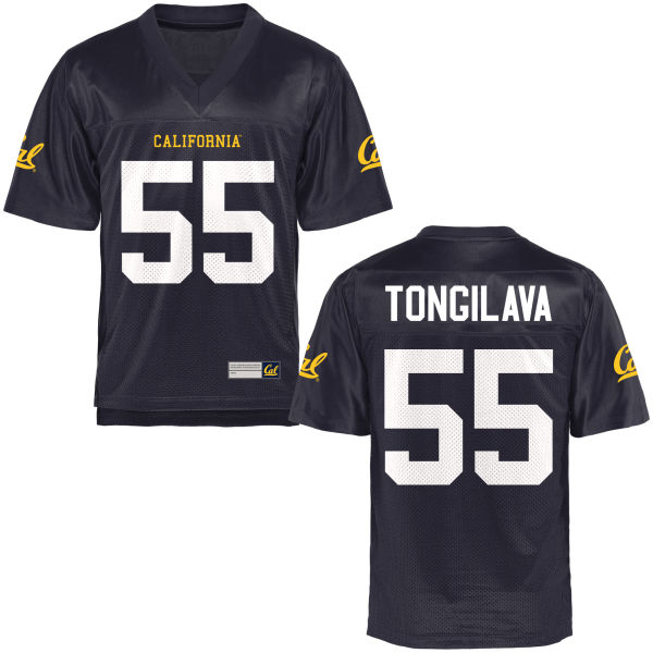 Men's Aisea Tongilava Cal Bears Replica Navy Blue Football Jersey