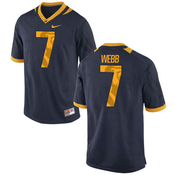 Men's Nike Davis Webb Cal Bears Authentic Navy Football Jersey