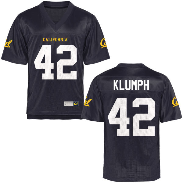 Men's Dylan Klumph Cal Bears Replica Navy Blue Football Jersey