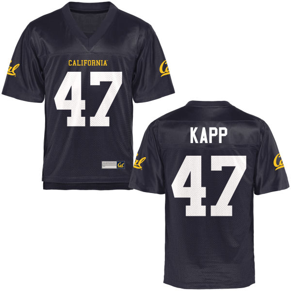 Men's Frank Kapp Cal Bears Game Navy Blue Football Jersey