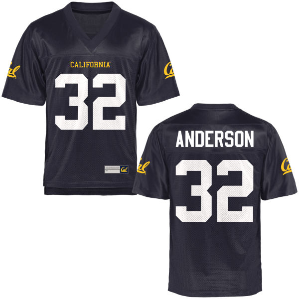 Women's Jacob Anderson Cal Bears Authentic Navy Blue Football Jersey