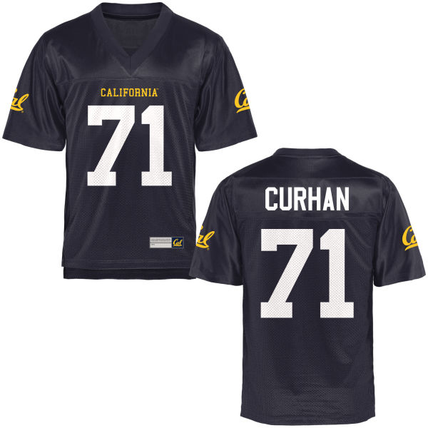Men's Jake Curhan Cal Bears Authentic Navy Blue Football Jersey