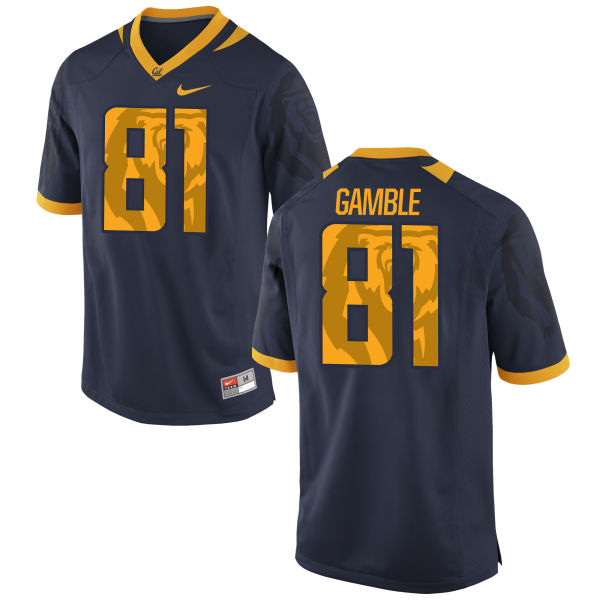 Men's Nike Logan Gamble Cal Bears Authentic Navy Football Jersey