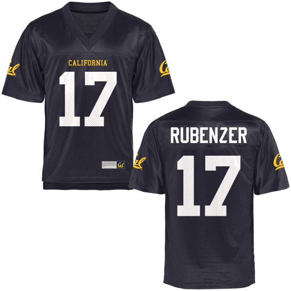 Men's Luke Rubenzer Cal Bears Replica Navy Blue Football Jersey
