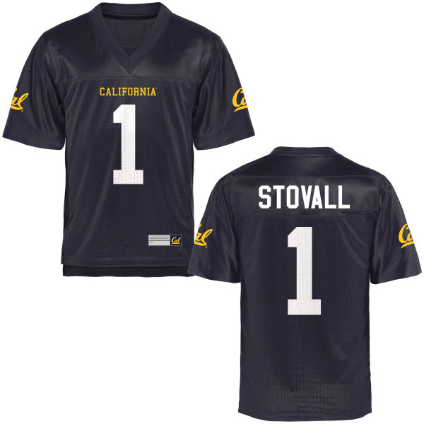 Men's Melquise Stovall Cal Bears Authentic Navy Blue Football Jersey
