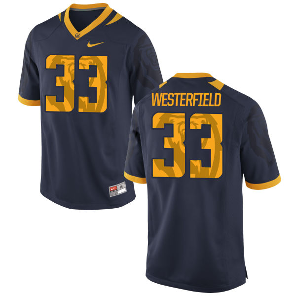 Men's Nike Noah Westerfield Cal Bears Authentic Navy Football Jersey