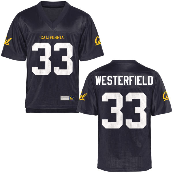 Youth Noah Westerfield Cal Bears Game Navy Blue Football Jersey