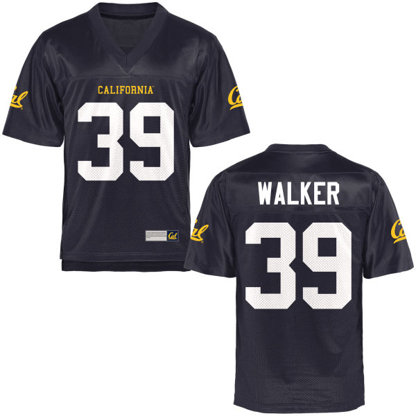 Men's Ricky Walker III Cal Bears Authentic Navy Blue Football Jersey