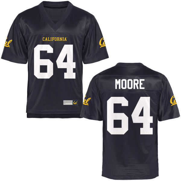 Men's Steven Moore Cal Bears Authentic Navy Blue Football Jersey