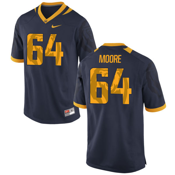 Men's Nike Steven Moore Cal Bears Authentic Navy Football Jersey