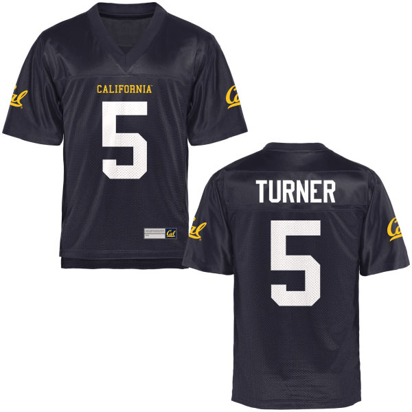 Men's Trey Turner Cal Bears Authentic Navy Blue Football Jersey
